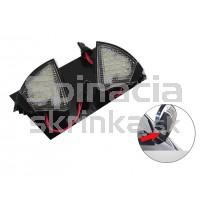 LED svetlo, podsvietenie spätného zrkadla, ľavé a pravé, Škoda Superb 06-08