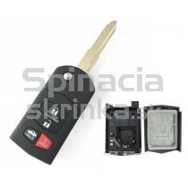 Obal kľúča, holokľúč pre Mazda 2, štvortlačítkový