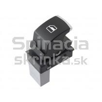 Ovládanie vypínač sťahovania okien VW Golf VI 5ND959855, chróm